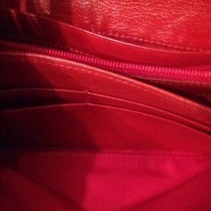 tusk Bags - Tusk wallet animal print red leather
